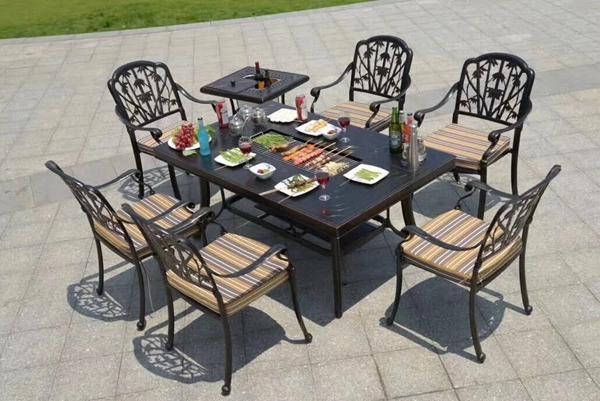 云浮铸铝桌椅